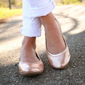 Lucky Brand Emmie Rose Gold Ballet Flats